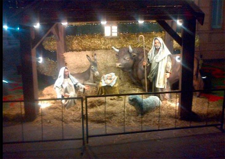 7595cd80f4e Navidad  Cristina saludó por Twitter y mostró el pesebre de la Rosada