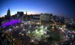 Vista parcial de la Plaza de los Dos Congresos y el Palacio del Congreso Nacional durante la marcha 'NI UNA MENOS' ( #niunamenos ) 03/06/2015.  Foto: Alejandro Pagni