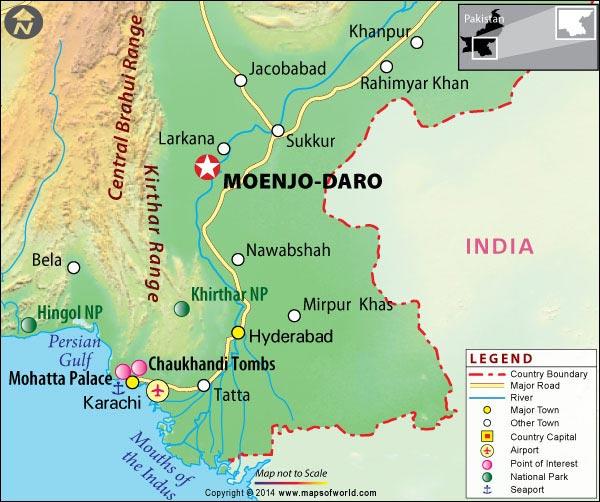 Resultado de imagen de mohenjo daro mapa