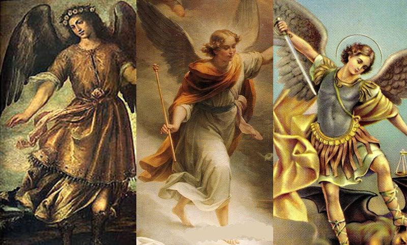 Los tres Santos Arcángeles de la Iglesia Católica