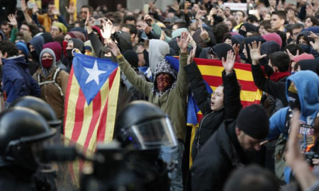 Protesta en Barcelona
