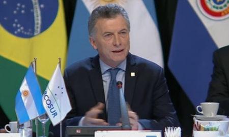 Macri asume la presidencia del Mercosur