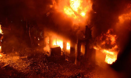 Fuego en Bangladés