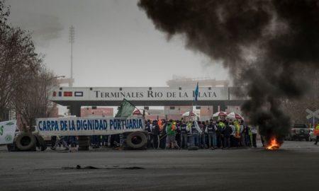 Paro de portuarios en Buenos Aires