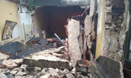 Se desplomó el techo de una casa
