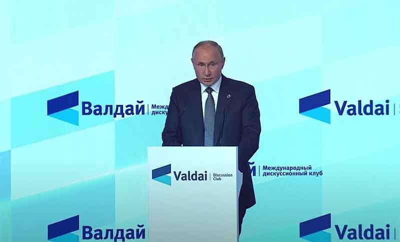 Putin: «El modelo existente del capitalismo se ha agotado»
